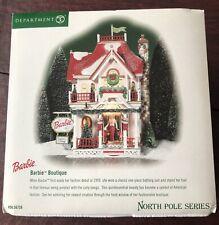 "Department 56 "" Barbie Boutique"" North Pole Series #56.56739 Complete Box 2001"