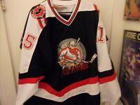 New Jersey Bandits # 15 Minor League Hockey Jersey Size Man L All Sewn