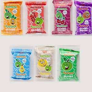 organic food 21pc Natural apple Pastila taste childhood without sugar of 7 types