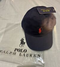 Adults  Size Ralph Lauren Polo baseball hat(navy blue & Red pony )70%off