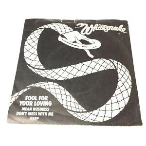 """Whitesnake 'Fool For Your Loving' 1983 Vinyl 7"""" Single Very Clean Copy! VG+/VG"""