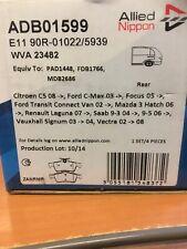 Allied Nippon Rear brake pads Ford Focus / C-max / transit connect ADB01599