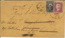 US Sc#36B Pennsylvania Town Cancel-1859 DUAL FRANKED-Great Britain SG#40