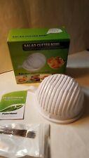 NEW Salad Maker Cutter Bowl Easy Washer Chopper Slicer in 60 Seconds w fork set