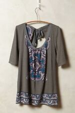 NWT Anthropologie Brilliant Bowknot Tee Top Shirt Blouse Amazing 5 Stars Size L