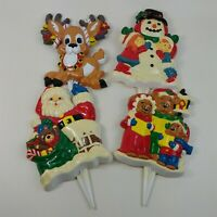 New Design Inc. Gift Co Snow Buddies Greeter Stakes Christmas ND 51724 Vintage