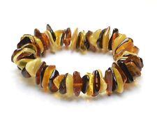 Beau Bracelet ambre de la baltique adulte multicolore style + CERTIFICAT