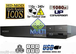 SONY BDP-S1700 ALL REGION FREE BLU-RAY DVD PLAYER ZONE A,B,C & DVD: 0-9,