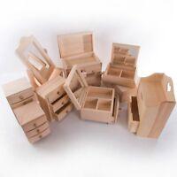 Wooden Mini Dressing Table/Jewellery Storage Boxes/Plain Wood/Drawer Box Mirror
