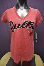 Touch By Alyssa Milano NBA Womens Chicago Bulls Burn Out Style Shirt NWT M