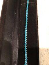 "10 Ct Aquamarine Tennis Bracelet 7.25"" Meghan Markle White Gold finish 5-09"