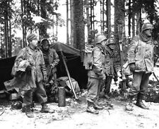 WWII B&W Photo Japanese American Soldiers 442nd RCT Vosges 1944 WW2 / 1128