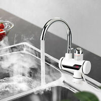 Instant Electric Faucet Tap Under Sink Hot Water Heater LED Display Kitchen Home