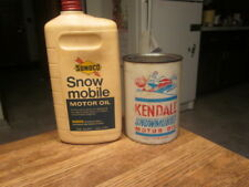 Vintage Sunoco & Kendall SNOWMOBILE quart oil cans rare and collectable sweet !