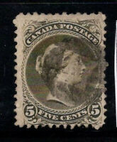 Kanada 1868 Mi. 21c Gestempelt 100% signiert 5 C, Königin Victoria