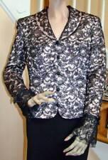 NWT ESCADA Couture Black Alencon Lace Jacket Blazer with Blush Satin Liner 38