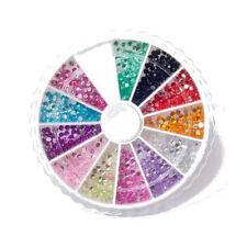 Decorazioni multicolore con strass per unghie