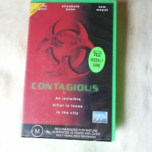 Paramount Pictures CONTAGIOUS 1997 VHS THRILLER Action SCI-FI Drama VIRUS HORROR