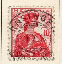 Switzerland 1909 Early Issue Fine Used 10r. 042857