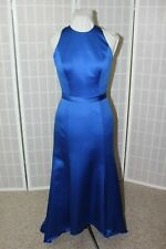 NEW! Belsoie l204013 Size 6 colbalt blue satin long formal bridesmaid dress