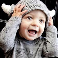 Cute Toddler Kids Girl Boy Baby Infant Winter Warm Crochet Knit Hat Horn Cap