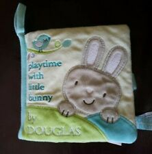"""Douglas Baby Playtime With Little Bunny 6"""" Activity Book Plush Toy Easter"""
