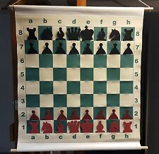 "CHESS SLOTTED 27"" DEMO BOARD w/ Pieces & Bag - 3"" Squares"