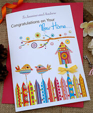 "Handmade Personalised Card Welcome to our New Neighbours ""Home Sweet Home"""