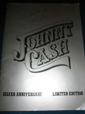 JOHNNY CASH SIGNED PROGRAM COA PROOF! SILVER ANNIVERSARY HIGHWAYMEN