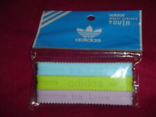 Adidas YOUTH Baller id Bands Wristbands Bracelets Lt Blue Lime Pink 3 pk New!