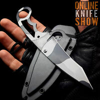 MASTER USA TACTICAL URBAN CAMO FIXED BLADE Survival Hunting Neck Knife w/ SHEATH