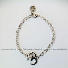 Bracelet zen attitude pendentif symbole OHM yoga relaxation bien-être méditation