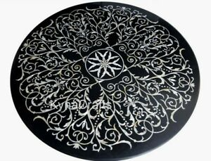 Elegant Pattern Hotel Decor Table Round Marble Dining Table Top for Home 48 Inch