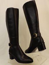 908966eb5e0b Tory Burch Marsden Black Leather Reva Buckle Wide Calf Riding Zip BOOTS 10