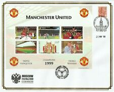 BENIN 21 MAY 2008 MANCHESTER UNITED TREBLE WINNERS SOUVENIR SHEET O/S FDC