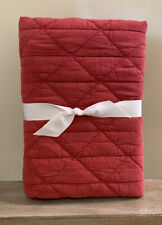 NEW Pottery Barn Kids Garment Dyed Quilted STANDARD Sham RED