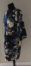Tamaño 20 Bolsillos Azul Floral Vestido Floral Caleidoscopio primavera verano
