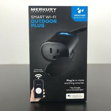 Merkury Innovations Indoor Outdoor Smart WiFi Plug, No Hub Required New