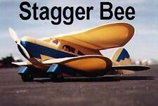 "Model Airplane Plans (RC): Stagger Bee 29½"" Biplane w/Inst Booklet (Gas or Elec)"