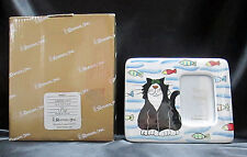 Pampered Pets Cat And Fish Roman Inc 44825 Ceramic Picture Frame Boxed