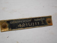"Cub Cadet 421U111 42"" Mowing Deck Identification Badge Label, 3 1/8"" by 5/8"""