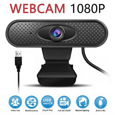 Webcam Auto Focusing Web Camera 1080P HD Cam Microphone For PC Laptop Desktop US