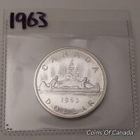 1963 Canada Silver $1 Dollar UNCIRCULATED Coin - Great Eye Appeal #coinsofcanada
