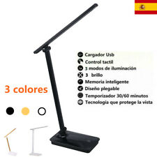 Lámpara Escritorio LED Lámpara Mesa 3 niveles regulable Control Tactil+USB cable