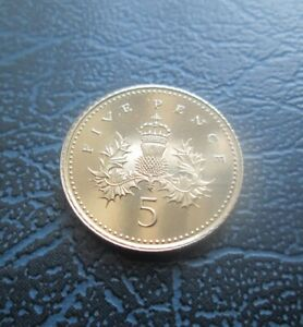 1993 5p Five Pence, Brilliant UNC, NIFC Issue