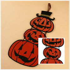 Creative Three Pumpkins Halloween Decorative Ornament Hanging Signs Props N7