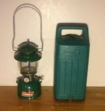 200-A 1980 Coleman Single Mantle Gas Lantern Deep Green Untested
