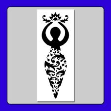 5 X 12 Floral Wiccan Goddess STENCIL Decorative/Wicca/Pagan/Nature/Flowers