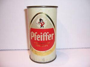 1960 PFEIFFER Premium Flat Top Beer Can Brewed in Detroit, MI Bottom Opened