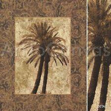 "32""x39"" PALM COLLAGE I by JOHN SEBA TROPICAL ART DECO CANVAS"